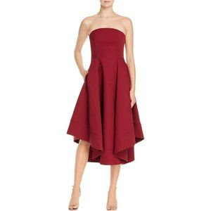 Making Waves Dress Strapless High Low Fit